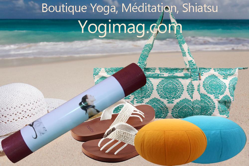 choix boutique en accessoires et tapis de yoga