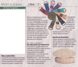 "Le Monde ""Sport & Forme"" du 20 avril 2013"