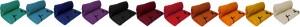 gamme couleur futon shiatsu-xl