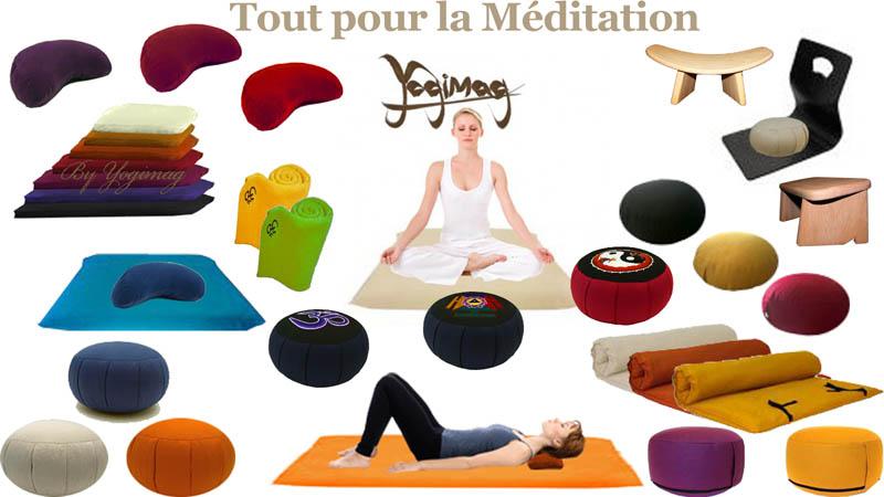coussin matériel de méditation
