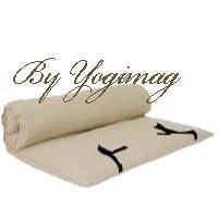 YOGIMAG TAPIS DE MEDITATION RELAXATION COTON NATUREL QUALITE FUTON QUALITE PROFESSIONNELLE ECRUE