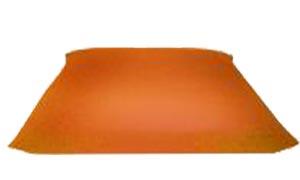 yogimag tapis de méditation carre zabuton orange