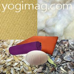 coussin méditation yoga coton fibres