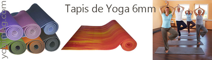 tapis de yoga 6mm yogimag