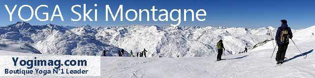 yoga ski montagne