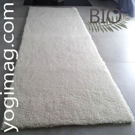 tapis yoga en laine