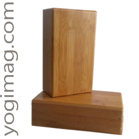 brique yoga bois