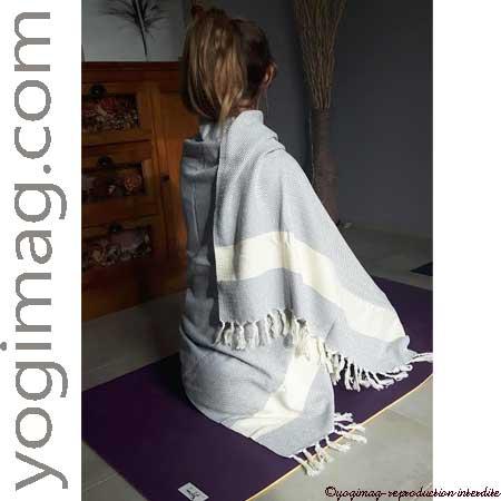 châle de méditation pour femme