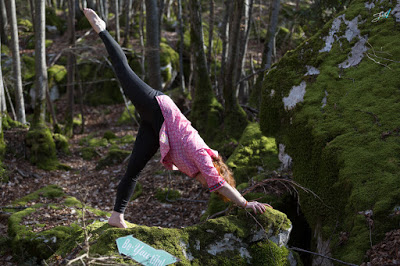 yoga et marche nordique