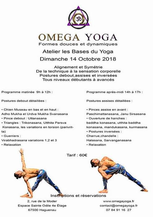 "Omega Yoga - Atelier ""les bases du yoga"""