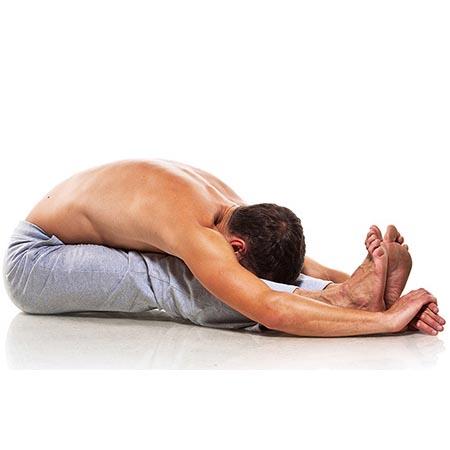 Posture de yoga homme de souplesse