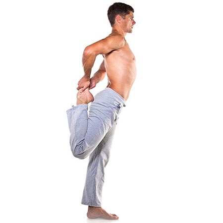 Posture yoga homme souplesse