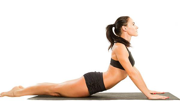 Position de yoga pour la détente