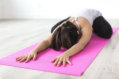 Posture yoga anti-stress