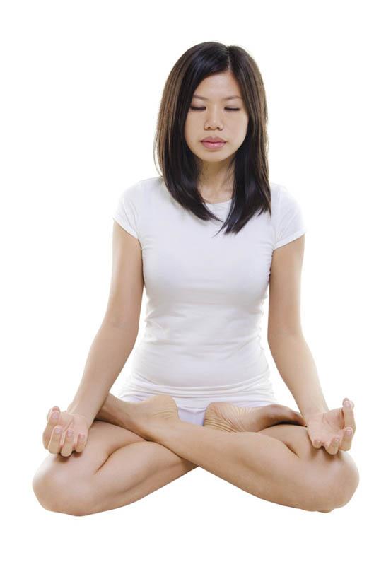 Posture de yoga spirituelle du tailleur