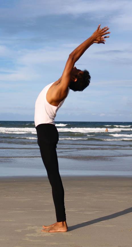 Posture yoga d'étirement