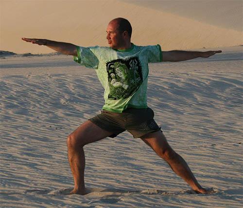 posture yoga pour débutant du guerrier