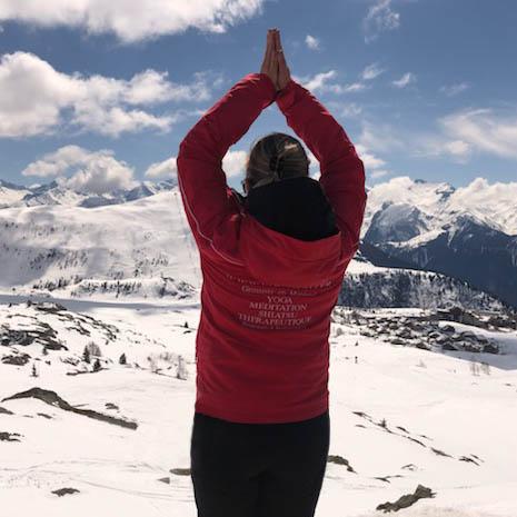 ski yoga snow yoga