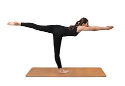 Exercice de yoga de gainage : la planche