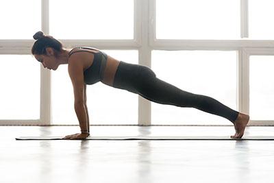 Tapis de yoga avec du tissu