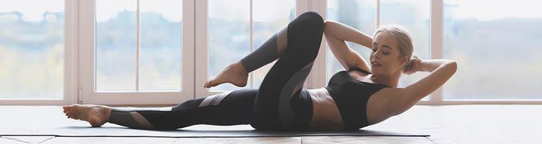 Tapis de yoga avec tissu