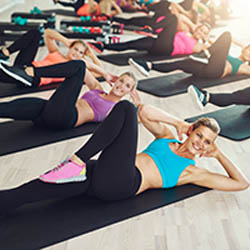 Exercices sur tapis Body Fitness
