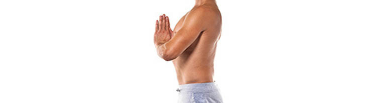 La couverture de yoga permet d'avoir un dos droit