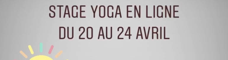 Stage de yoga en ligne via Instagram