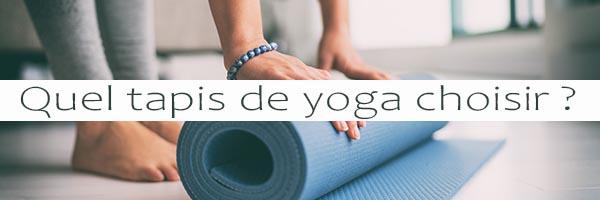 Article de presse quel tapis de yoga choisir ?