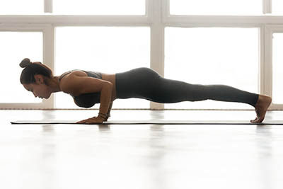Exercice Yoga perte de poids musculation des bras, poitrine et du corps